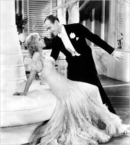Astaire sings Night and Day to Rogers in The Gay Divorcee