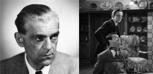 Left picture: Boris Karloff. Right: Massey and Grant in AaOL.