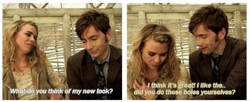 David and Billie behind the scenes of The Day of the Doctor