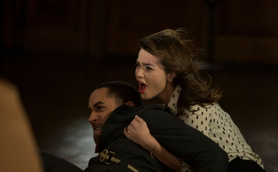Picture shows: Samuel Anderson as Danny Pink and Jenna Coleman as Clara Oswald