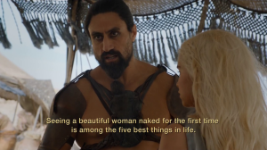 GoT 6x01 dothraki life of brian