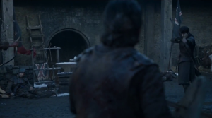 GoT 6x09 Jon Ramsay stand off