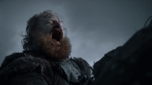GoT 6x09 Tormund ear bite