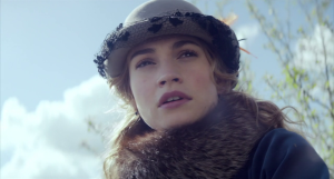 Lily James Natasha Close Up War and Peace